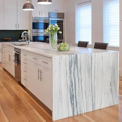 Kitchen countertop: material - Montclair Danby Vein Cut Marble