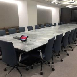 Blue de Savoie stone conference table