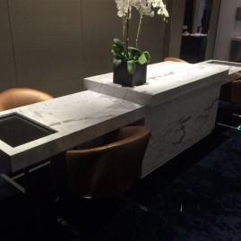 Arabescato stone desk