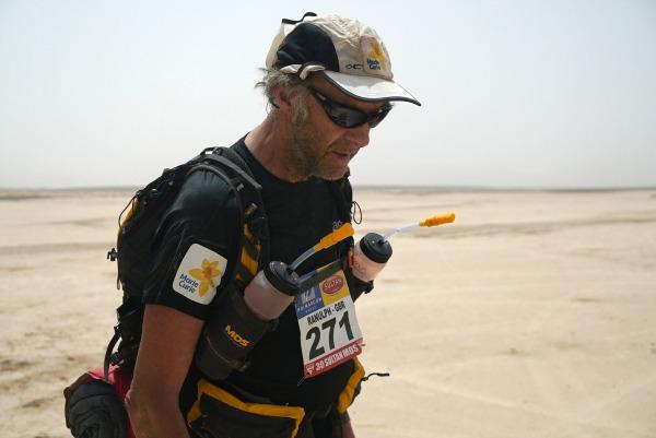 Sir Ranulph Fiennes Marathon des Sables 2015 Marie Curie