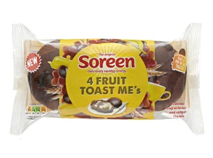 Soreen Fruit Toast Me's have the same malt loaf taste you're used to but in a fruit teacake