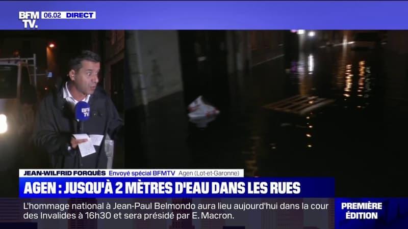 Orages: les rues d'Agen ont connu d'importantes inondations, avec de l'eau jusqu'à deux mètres