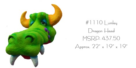 Lumley here is wall mountable! Much better than a real dragon head on your wall.