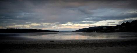 The Waikato river at dusk