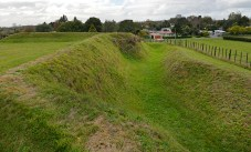 The redoubt, Pirongia behind