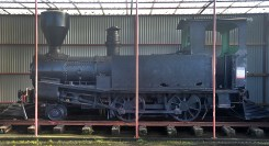 An old train at the station