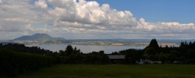 The view from our park of Taupo