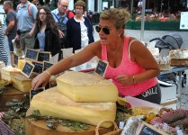 In the market. Check out the cheese