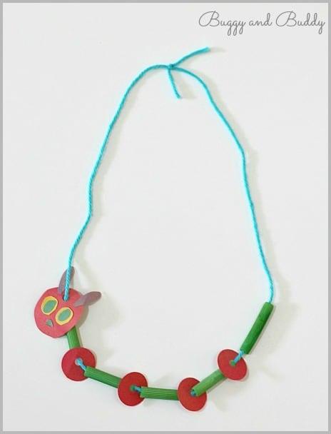 Crafts For Kids Caterpillar Necklace Craft
