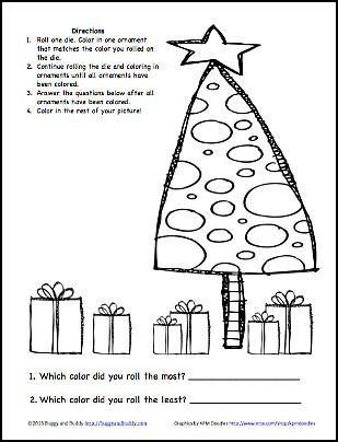 Christmas Game for Kids: Color the Christmas Ornaments