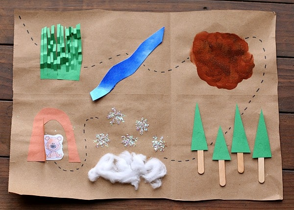 Map Craft Activity for Kids Inspired by We're Going on a Bear Hunt