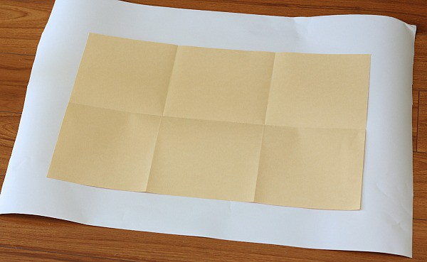 how to fold paper into six sections