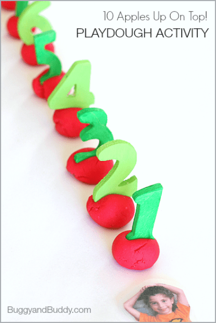 Ten Apples Up On Top! by Dr. Seuss Playdough Activity for Kids~ BuggyandBuddy.com