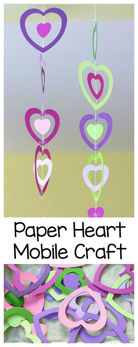 Valentine Crafts For Kids Paper Heart Mobile Buggy And