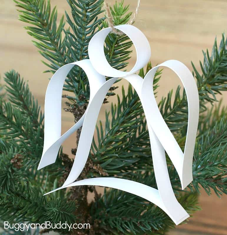 Paper Strip Angel Ornament Christmas Craft With Free Template Buggy And Buddy
