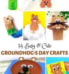 Easy and Cute Groundhog Day Crafts for Kids - Buggy and Buddy [ 1102 x 735 Pixel ]