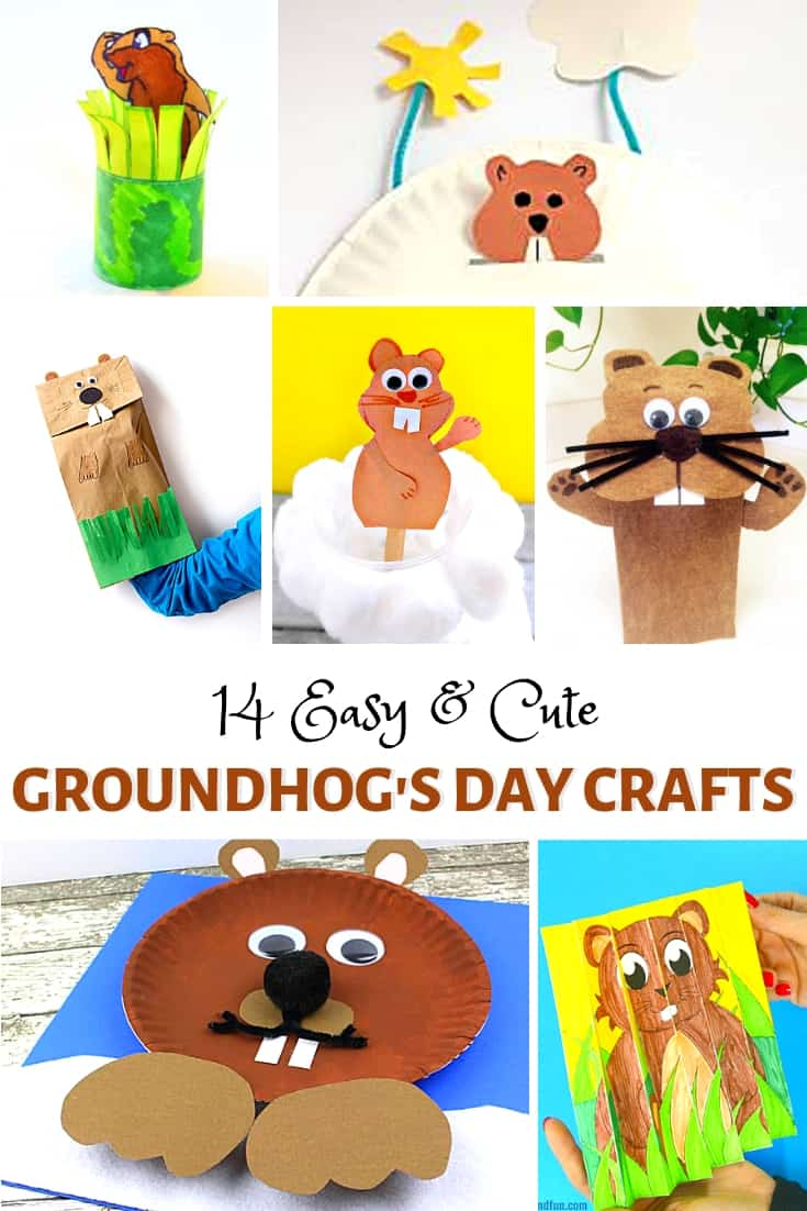 medium resolution of Easy and Cute Groundhog Day Crafts for Kids - Buggy and Buddy