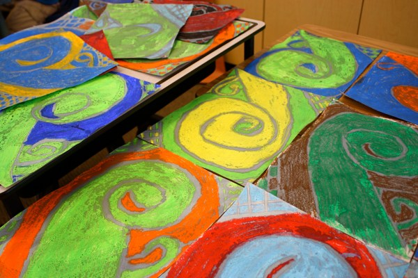 Art Projects Kids Oil Pastels & Watercolors - Buggy And Buddy