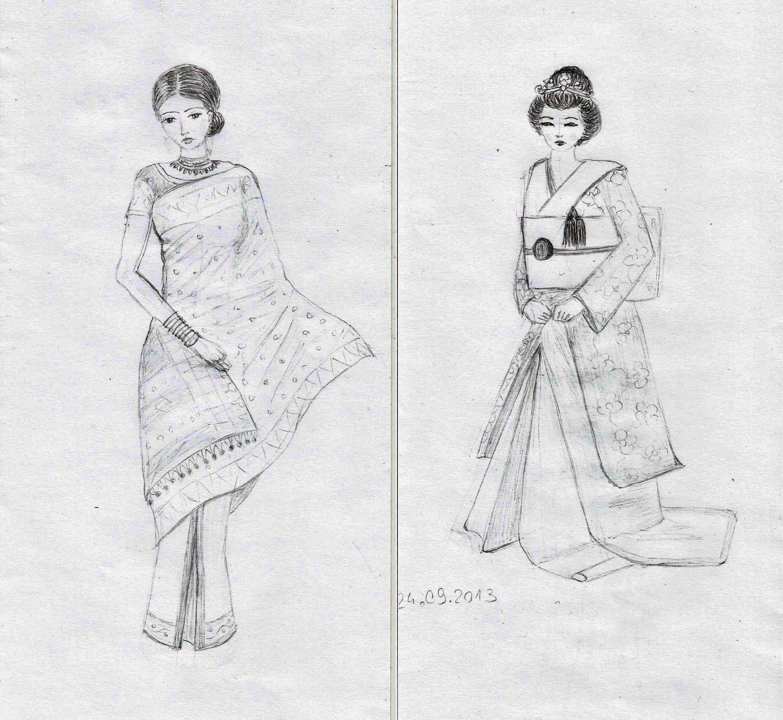 Desene In Creion Moda Fashion Pictures To Pin