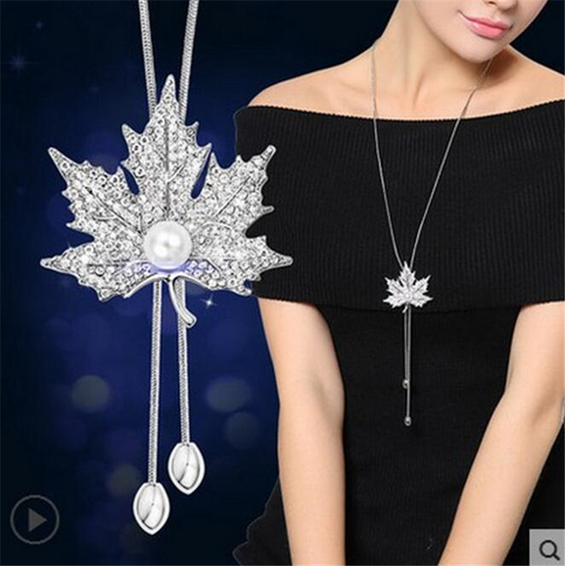Ravimour zircon long necklace for women fashion silver color crystal ravimour zircon long necklace for women fashion aloadofball Gallery