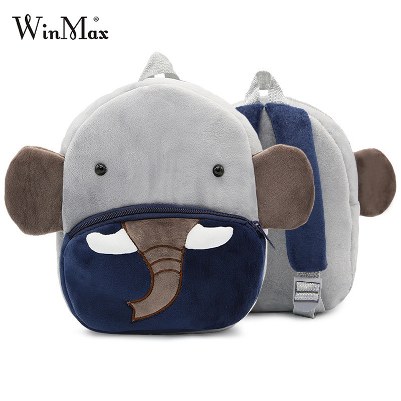 3D Cartoon Elephant Backpack Oxford Cloth Kids School Handbag Satchel Rucksack