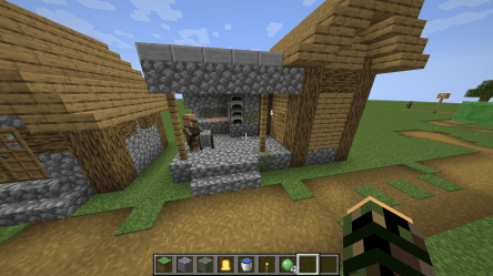 MC 147807] Mobs spawn in the roof of the blacksmith s house Jira