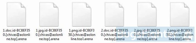 files encrypted with arena