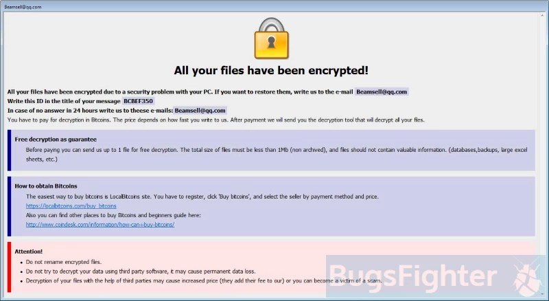 How to remove Bip Ransomware and decrypt  bip files