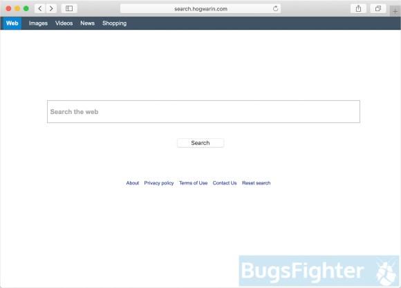 Search.hogwarin.com hijacker