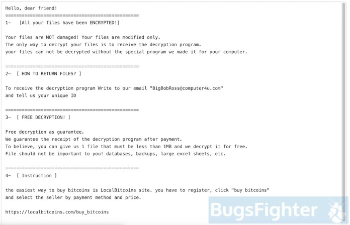 Obfuscated (BigBobRoss) Ransomware