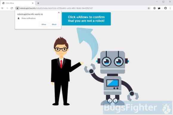 Robotcaptcha.info pop-ups and notifications