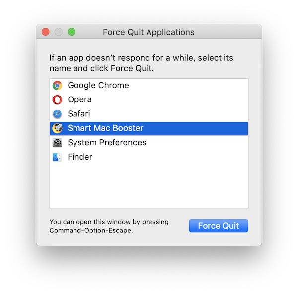 Smart Mac Booster Kraft beenden