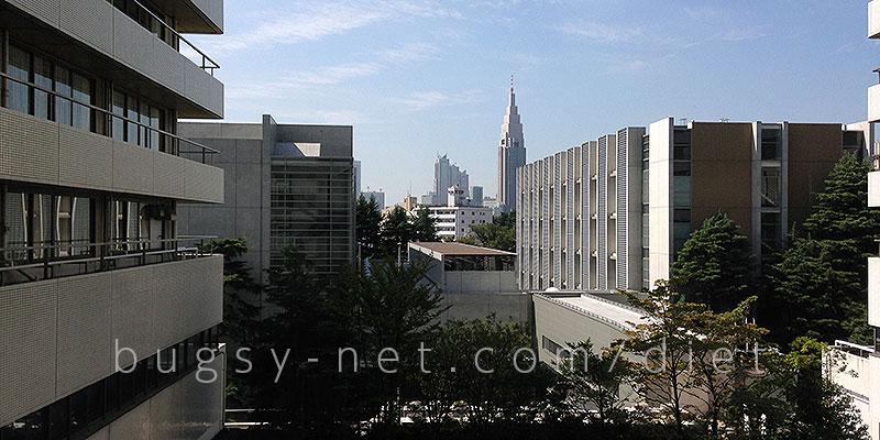 慶應義塾大学病院入院病棟からの眺め