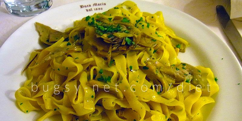 フィレンツェ「buca mario」で食べたパスタ