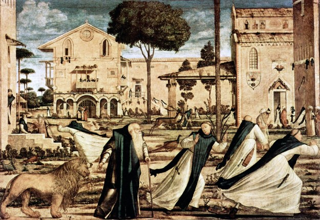 Vittore Carpaccio - St Jerome and the Lion (1509)
