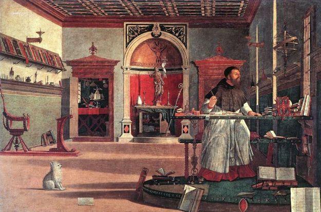 Vittore Carpaccio - The Vision of St Augustine (1509)