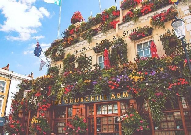 Photo Five from https://secretldn.com/churchill-arms-flower-pub/