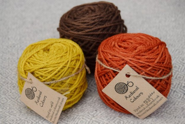 Photo Nine from https://medieval-colours.co.uk/products/autumn-set-of-yarns-alder-madder-weld