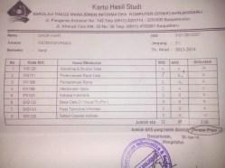 Berkas KHS semester 3