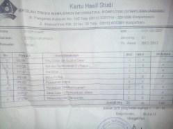 Berkas KHS semester 2
