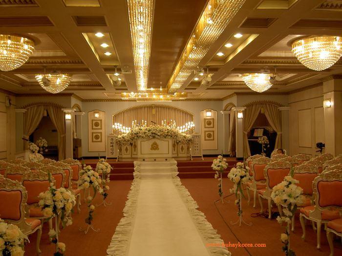 Inside a Korean wedding hall