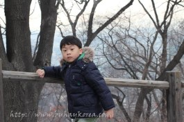 My boy, Seonggyu, loves hiking but hates the camera!