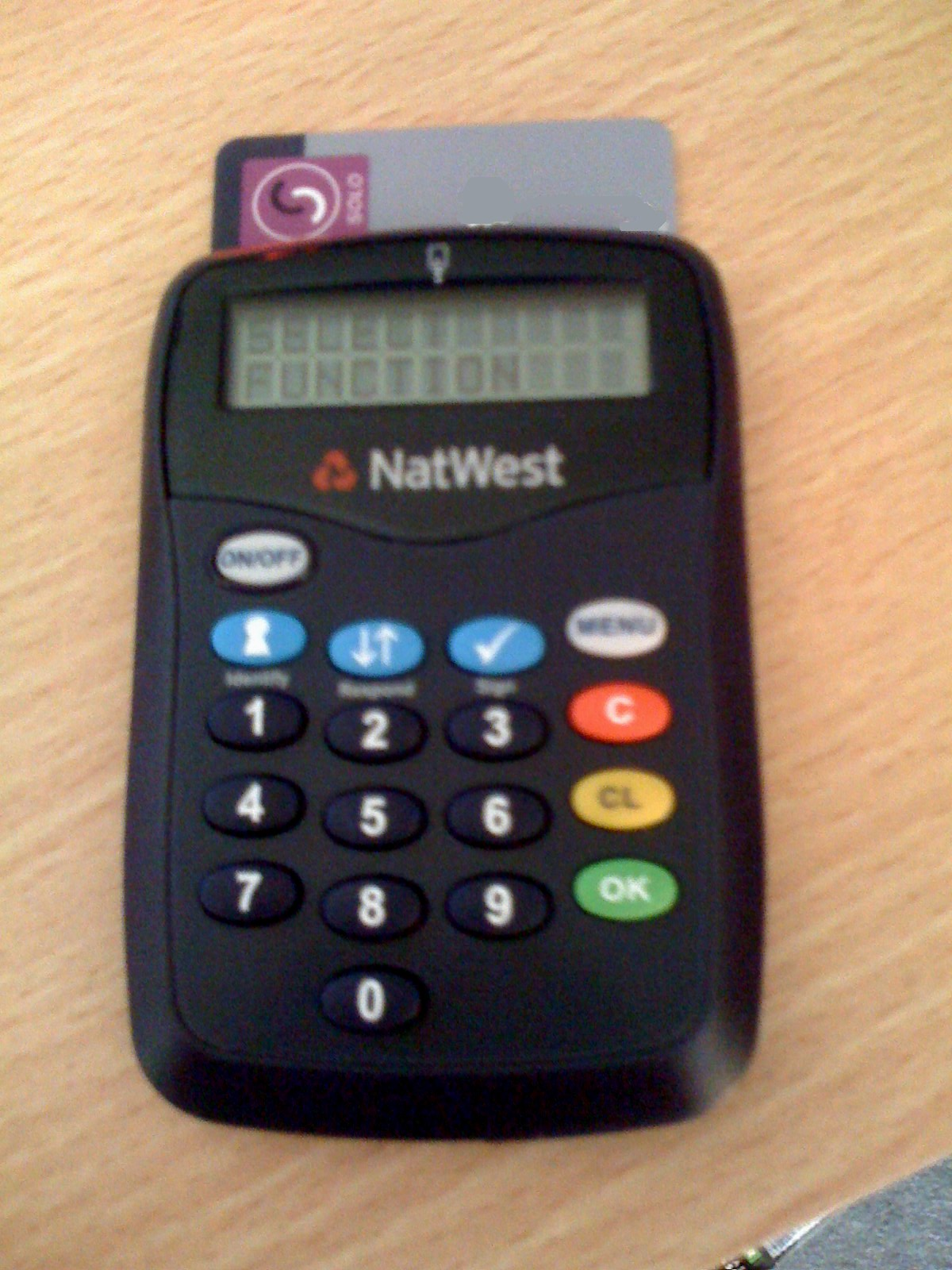 Card Reader Arrives From Natwest Buhjillions