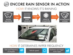 Rainsense wipers are available for the 2014 Buick Encore
