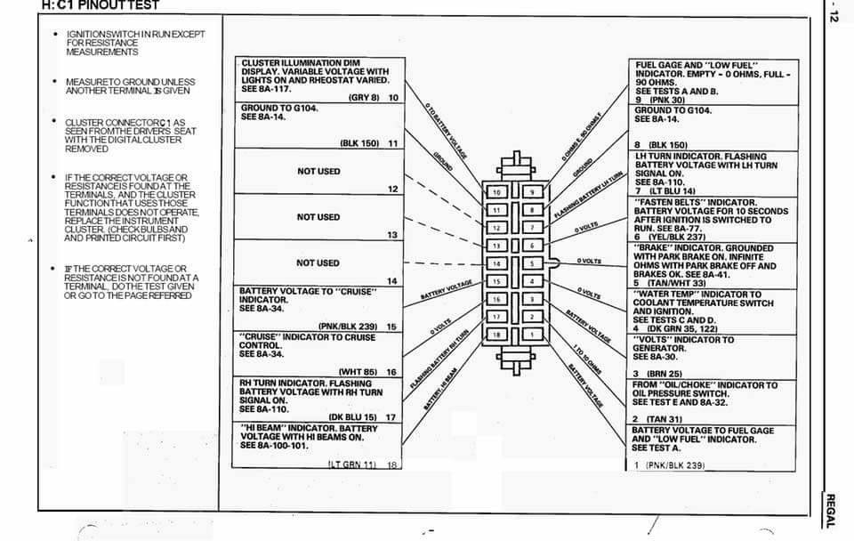 Buick Grand National Dash Pinout Diagram