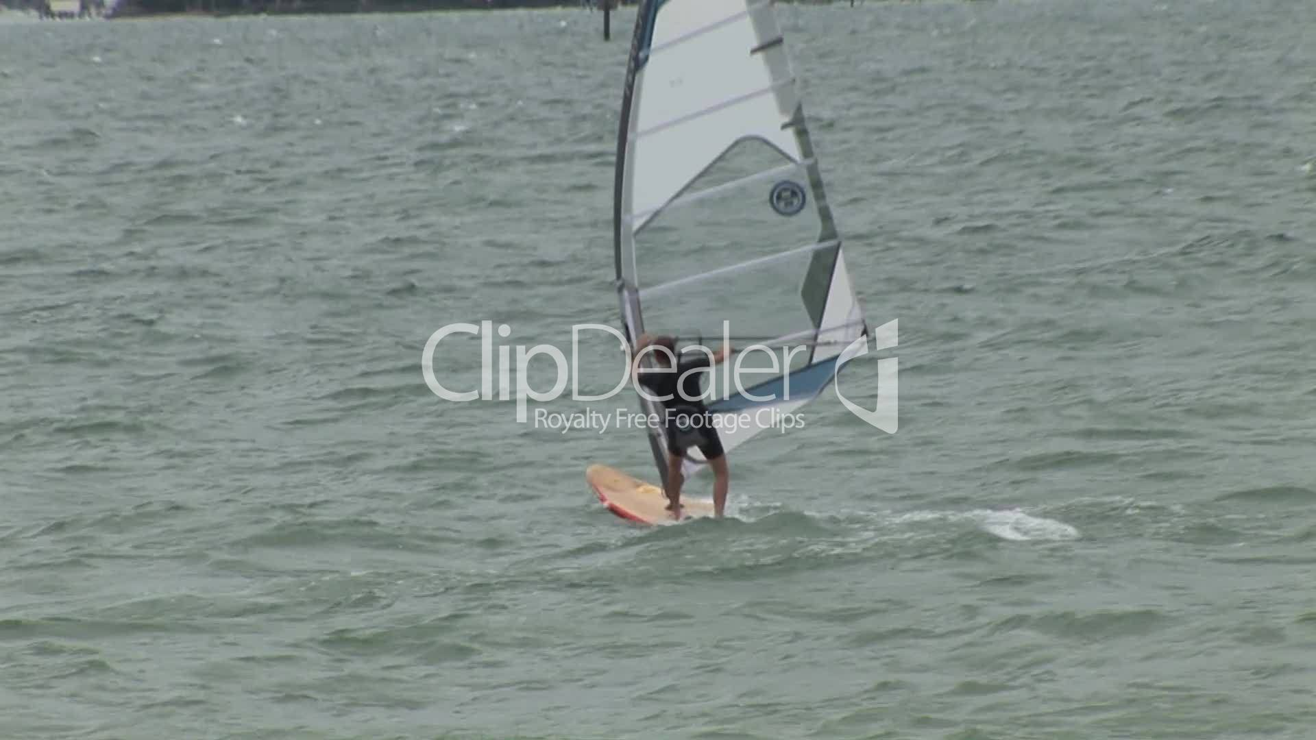Windsurfer: Royalty-free video and stock footage
