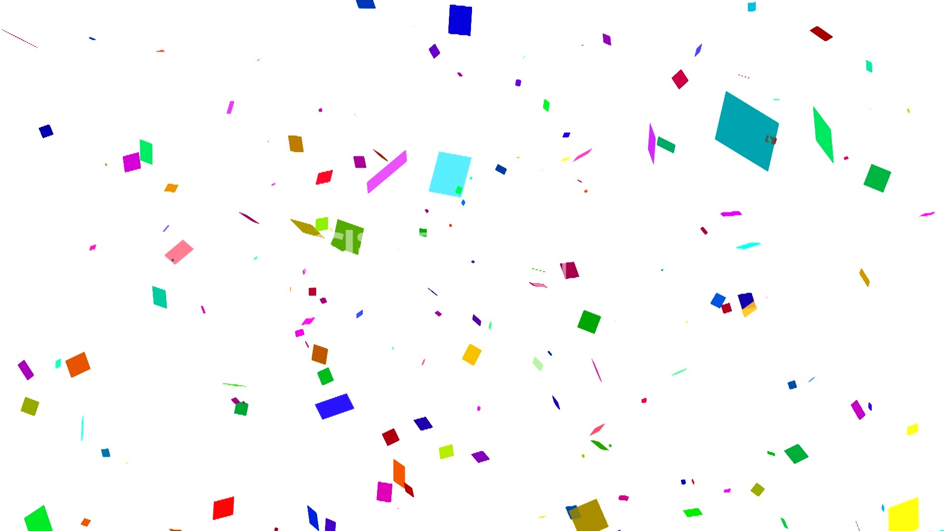 Happy Birthday Animated Wallpaper White Confetti Falling Royalty Free Video And Stock Footage