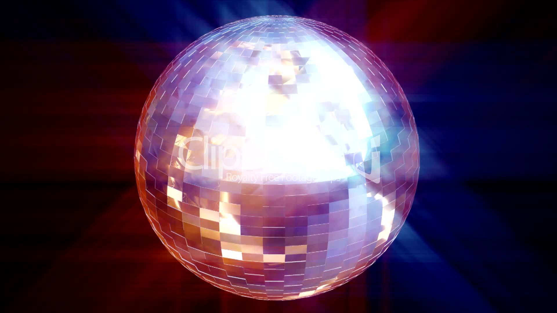 HD animated Disco Ball Royaltyfree video and stock footage