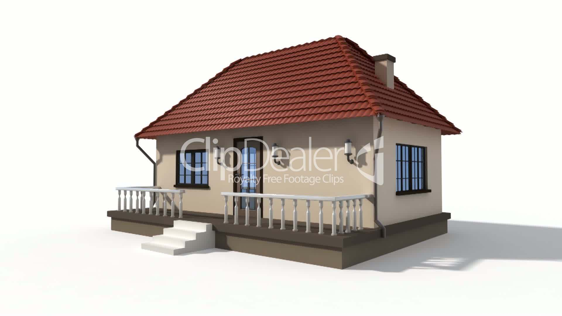 Time lapse animation of a building house Royaltyfree video and stock footage