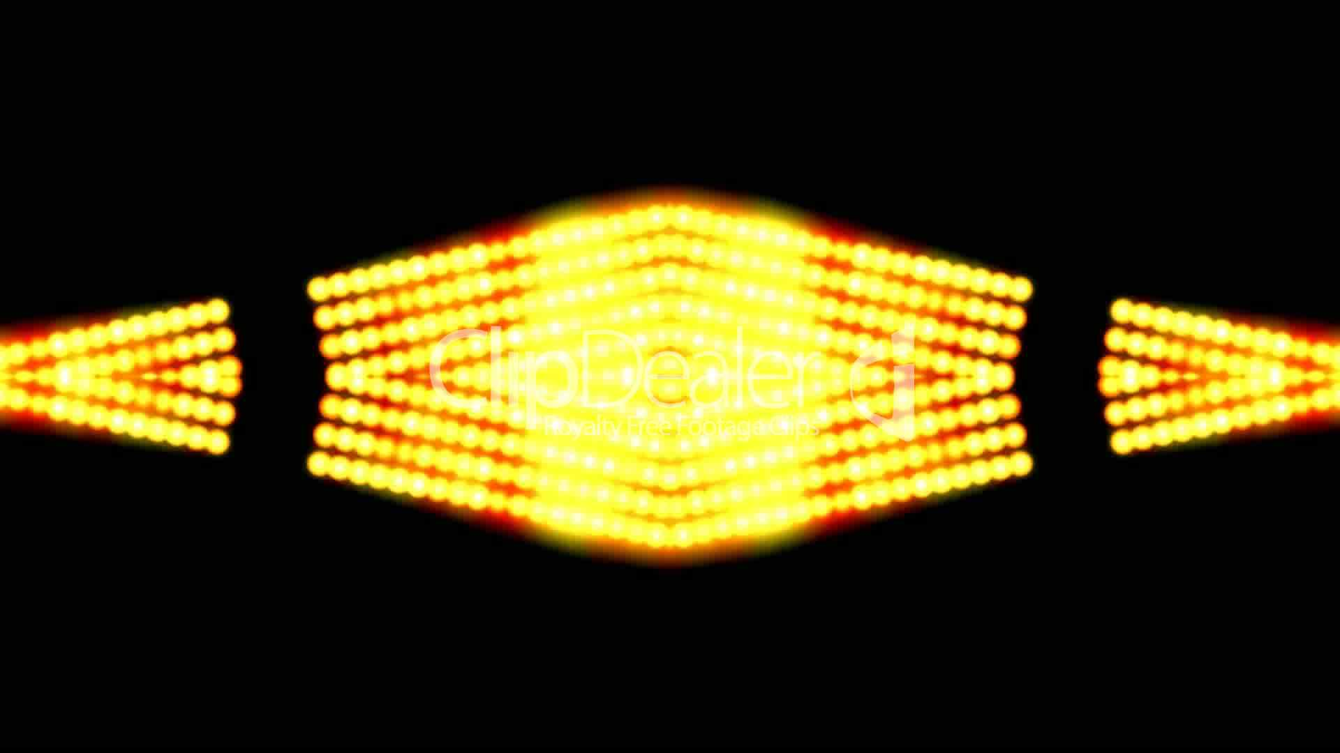 flare golden beads shaped neon lightsunlightstage